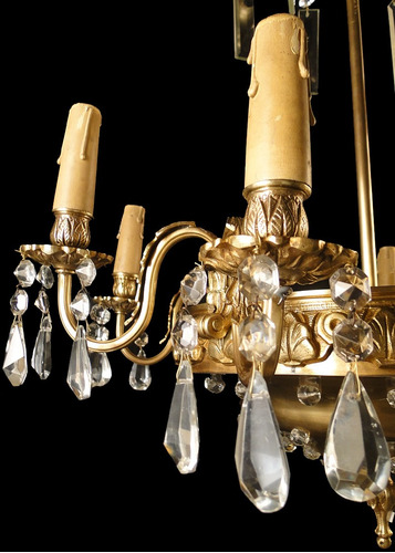 ant araña frances estilo imperio almendras prismas cristal