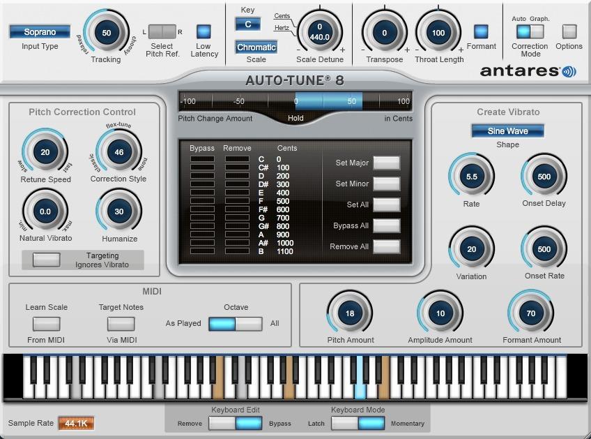 Antares Autotune Evo V8 Vst3   Compatible Ableton Live 10