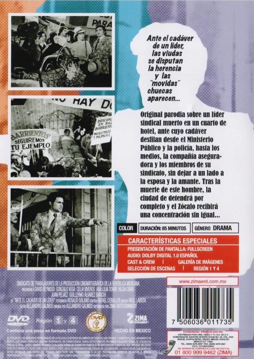 Ante El Cadaver De Un Lider Gonzalo Vega Pelicula Dvd - $ 189.00 en ...