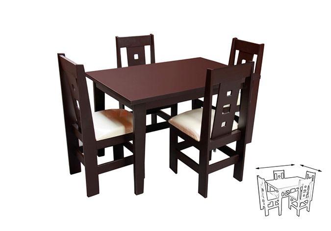 Antecomedor mesa y 4 sillas minimalista morelia 4 395 for Mercado libre mesas y sillas