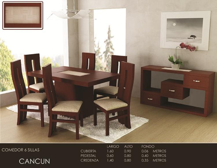 Antecomedor nebraska mesa 6 sillas chocolate moderno for Sillas de diseno moderno
