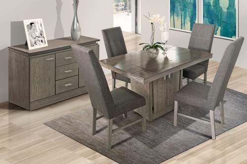 antecomedor sacramento 6 sillas - gris këssa muebles