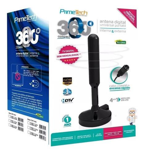 antena 360 flex primetech digital 5 metros de fio