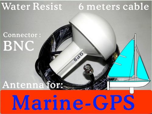 antena activa de gps marino 6m bnc 4 plotter receptor garmin