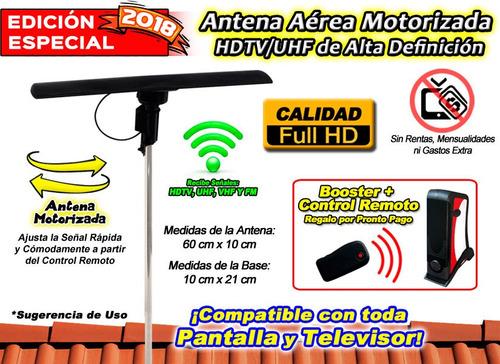 antena aerea motorizada para señal hd tv y pantallas xaris .