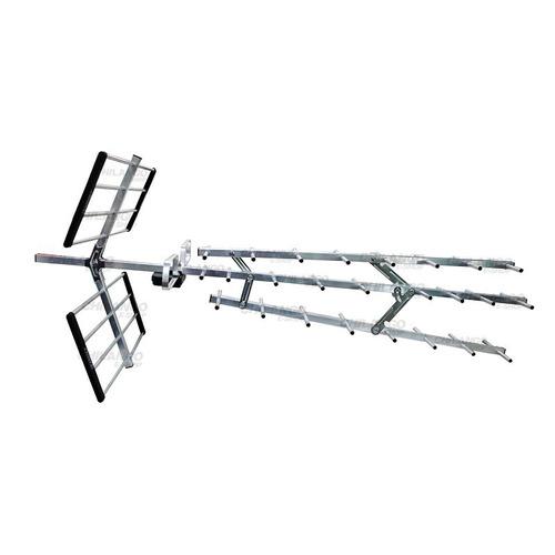 antena aerea para tv uhf vhf hdtv fm 34 elementos