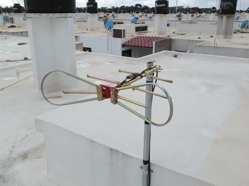 antena aérea tipo moño, canales televisión hd y digitales