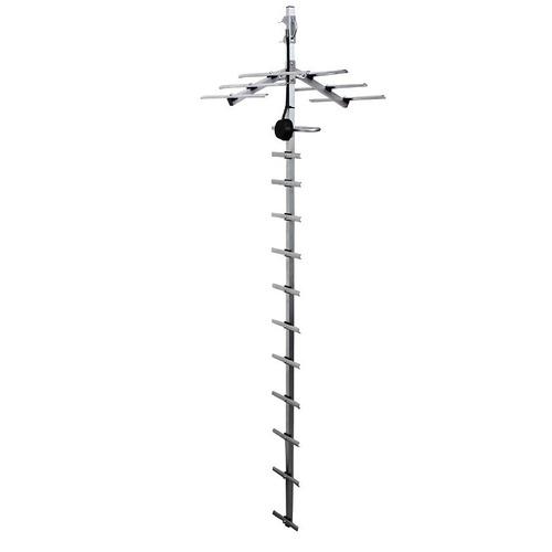 antena aerea yagui tv uhf vhf hdtv fm 18 elementos
