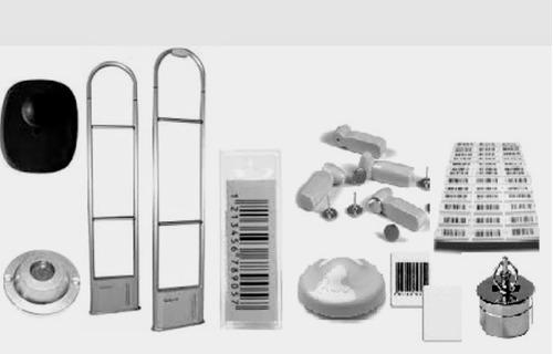 antena antifurto para loja c/ alarme, etiqueta, sensor