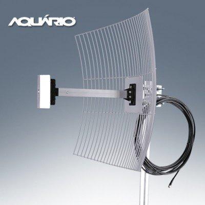 antena aquario direcional de grade 20dbi cabo de 10 metros