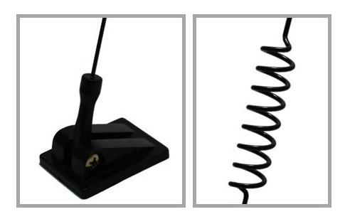 antena automotiva para recepção de celular universal metal