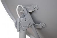 antena banda ku 60cm+lnb simples+kit de fixação+cabo rg6
