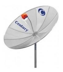 antena century 1.70m com lnbf mono sem cabo sem receptor