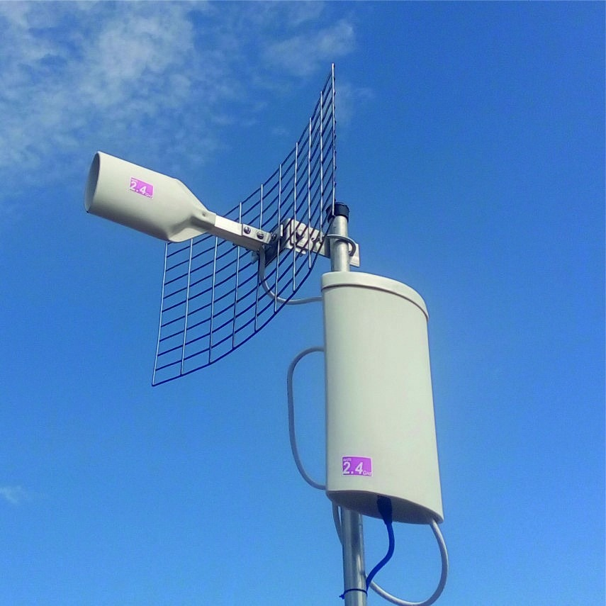 Antena Cliente Wifi Cpe Hasta 4k Cable Utp Enlace Internet Bs En Mercado Libre