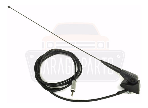 antena curta preta completa haste base cabo renault master