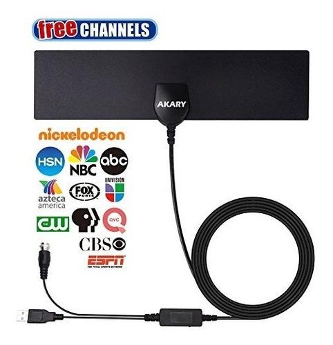 antena de tv akary antena digital para hdtv con amplificador