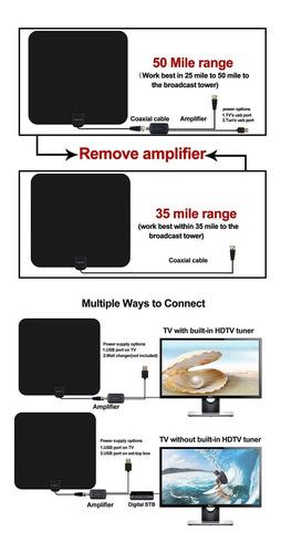 antena de tv, interior antena hdtv 1080p 5080miles ga