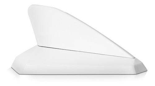 antena decorativa tubarao branca