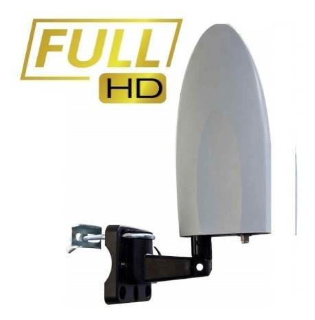 antena digital amplificada p/ tv 4 em 1 interna e externa