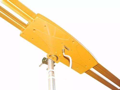 antena digital externa amplificada 27db capte ouro