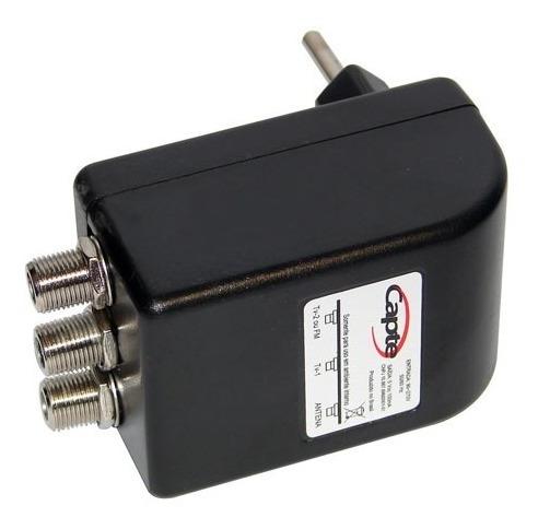 antena digital externa capte k7 turbo mastro 50cm cabo 12mts