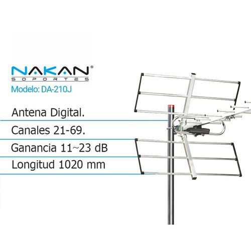 antena digital externa nakan da-210j canales 21/69 1020mm