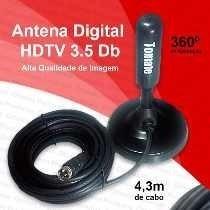 antena digital hdtv interna/externa 3.5dbi cabo 4.7m tomate