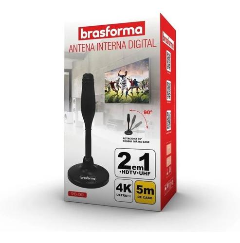 antena digital interna tv hdtv uhf shd-1000 base imantada