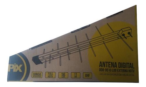 antena digital log 16 elementos