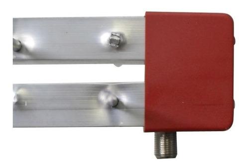 antena digital log16 4k uhf 16 elementos hdtv antena externa