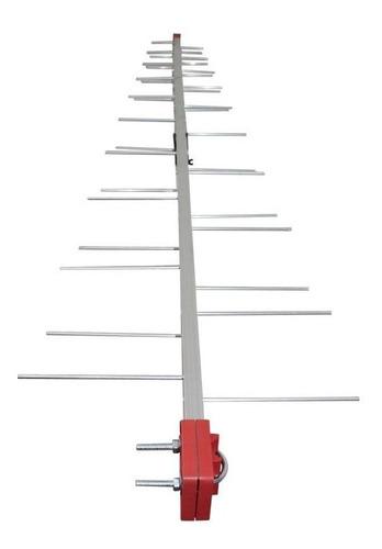 antena digital uhf 4k log 38 elementos capte longo alcance