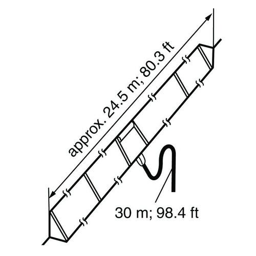 antena dipolar plegada marca icom-ah710
