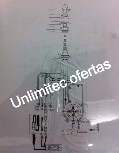 antena eléctrica universal carro 10 bases guardafango 12 vol