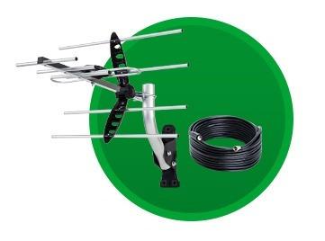antena externa de tv sinal digital ae 5010 intelbras + cabo!