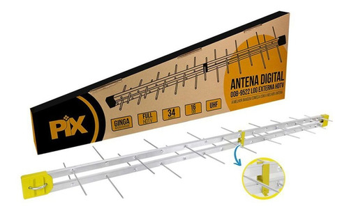antena externa digital full hd uhf hdtv