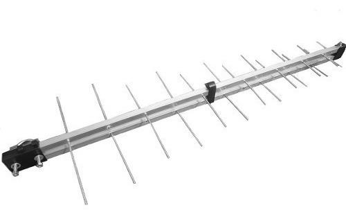 antena externa  log 8, 14 dbi, 16 elementos hdtv/uhf/vhf/fm