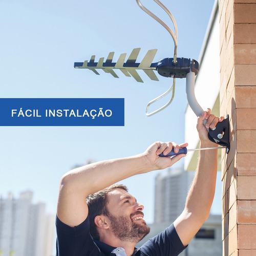 antena externa tv 4 em 1 completa aquário dtv-3000