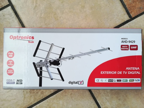 antena externa uhf para tv digital mod.9255,9330,9429 y 9948