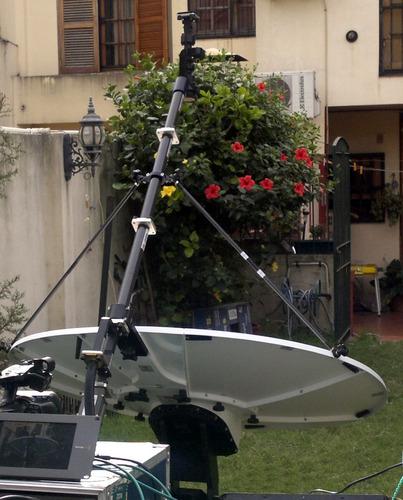 antena gigasat movil satelital ku band fly away 1,2 mts