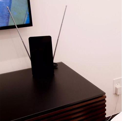 antena hd plana full hd 4k ultra resistente e fácil instalação full 1080p general electric - 038087