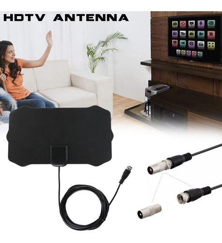 antena hd tv digital interior exterior plana dvb-t/t2 gen2