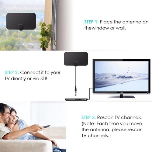 antena hd tv para tv digital interior exterior plana dvbt/t2