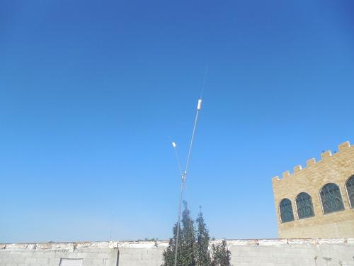 antena h.f banda 40 mts.  monobanda,para base
