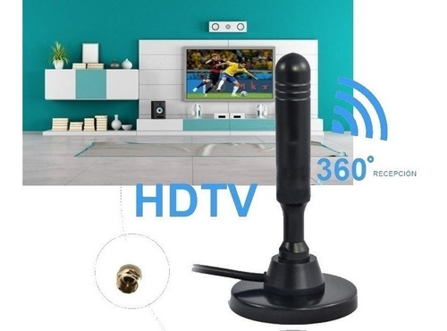 antena interior coaxial tv digital abierta 20 dbi isdbt hd