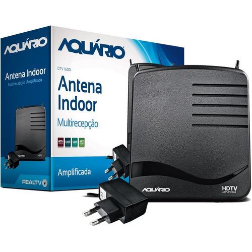 antena interna amplificada hdtv digital aquário dtv 1600