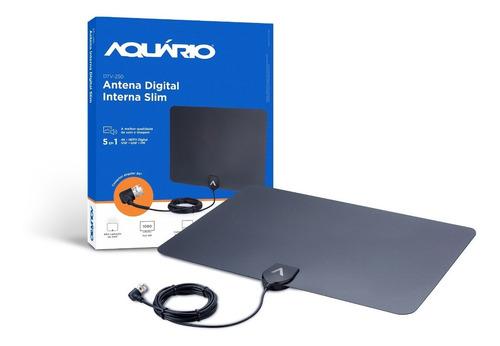 antena interna slim aquário ideal para apartamentos fácil instalação já com dupla face para fixar direto da fábrica