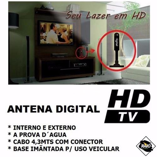 antena interna tv digital hdtv dtv fio 5m promoção