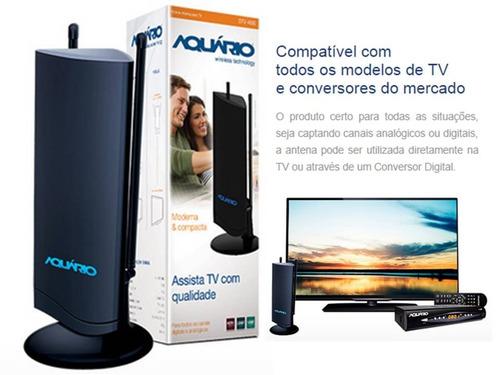 antena interna tv dtv-4500 hdtv uhf aquário ótima qualidade