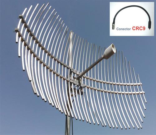 antena internet 3g 33db conector crc9 para modem