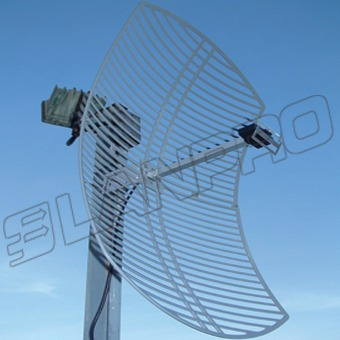 antena lanpro lp par 2424 2.4 ghz 24 db grillada direccional
